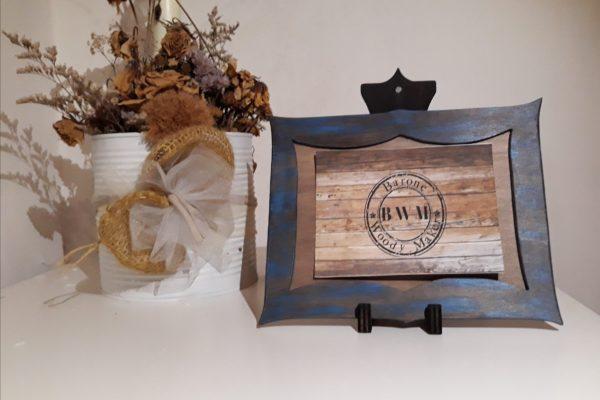 Porta foto in legno - Cornice in legno - Bomboniera - Idea regalo - Creazioni Artigianali - Barone Woody Maker