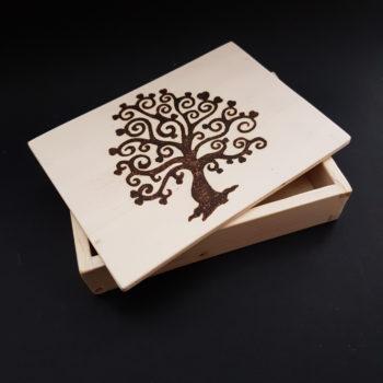 Creazioni in legno - Cofanetto in legno albero della vita - idea reagalo - Barone Woody Maker