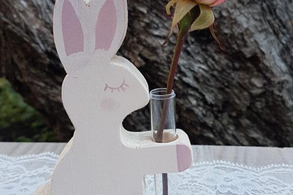 Vasetto in legno - Coniglietto in legno - Creazioni Artigianali - Barone Woody Maker
