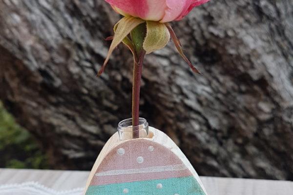 Vasetto in legno - Uovo in legno - Creazioni Artigianali - Barone Woody Maker