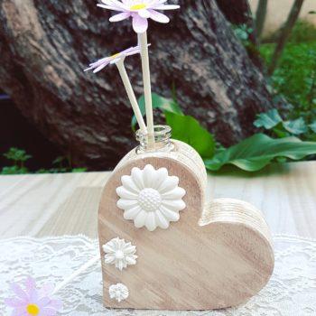 Creazioni in legno - Profumo ambiente cuore in legno. Barone Woody Maker