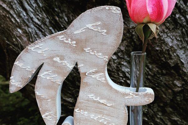 Creazioni in legno - Vaso porta fiore in legno - Barone Woody Maker