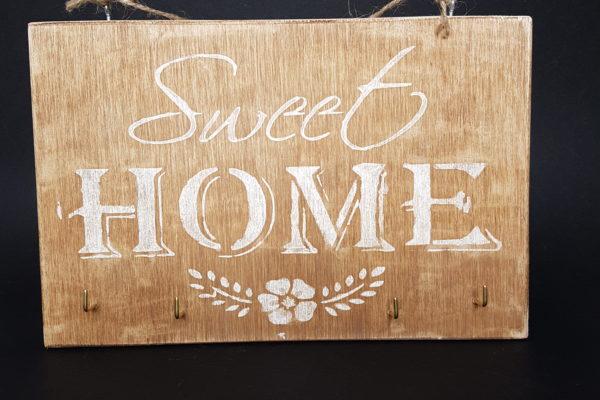 Home Decor - Portachiavi da parete in legno - Barone Woody Makera