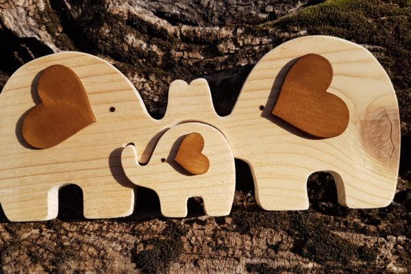 Creazioni artigianali - Elefanti in legno - Barone Woody Maker