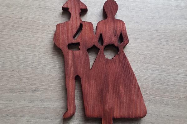 Creazioni artigianali - Wedding - cake topper in legno - Barone Woody Maker