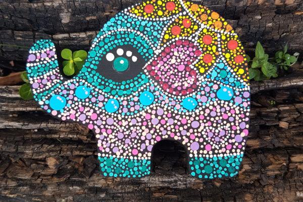 Creazioni artigianali - Creazioni in legno - Idea regalo - Elefantino in legno - Barone Woody Maker