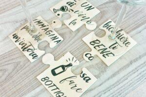 bomboniera matrimonio puzzle